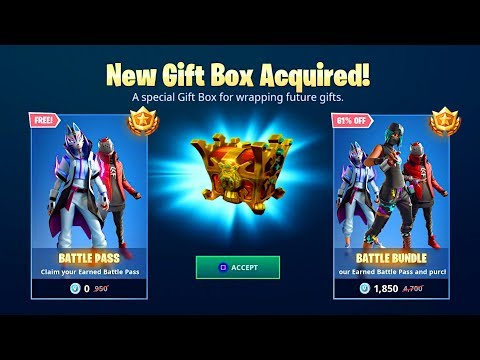 """How to """"GIFT SEASON X BATTLE PASS"""" in Fortnite! (New FREE SEASON X BATTLE PASS Gifting System)!"""
