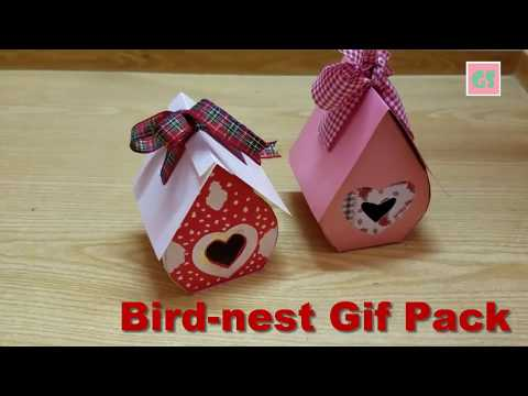 How to Make a beautiful Bird-nest gift pack/candy Pack🌺🌺🍫🍬❤🌺🍫