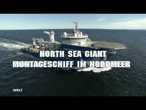 DIE WELT  NORTH SEA GIANT - MONTAGESCHIFF IM NORDMEER