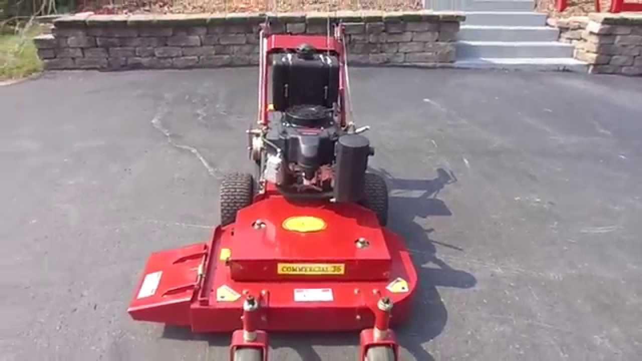 36 Quot Red Hawk Walk Behind Lawn Mower With 15 Hp Kawasaki