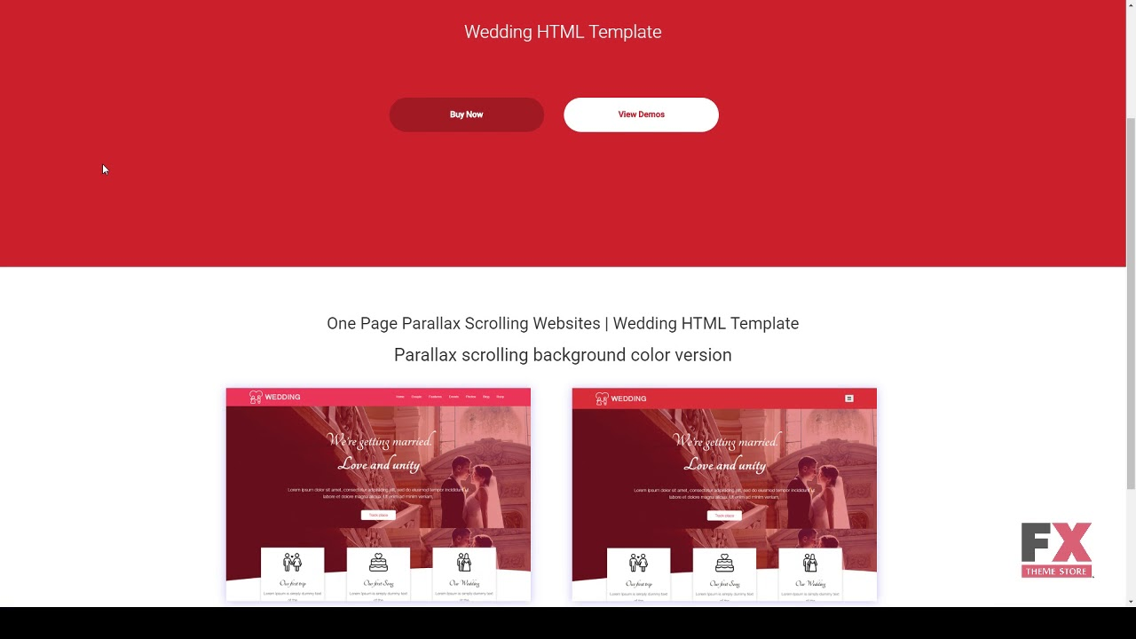 Wedding HTML Template Clayton Micah - YouTube