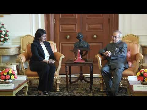 President of the Republic of Mauritius calling on the President of India-December 7, 2015.