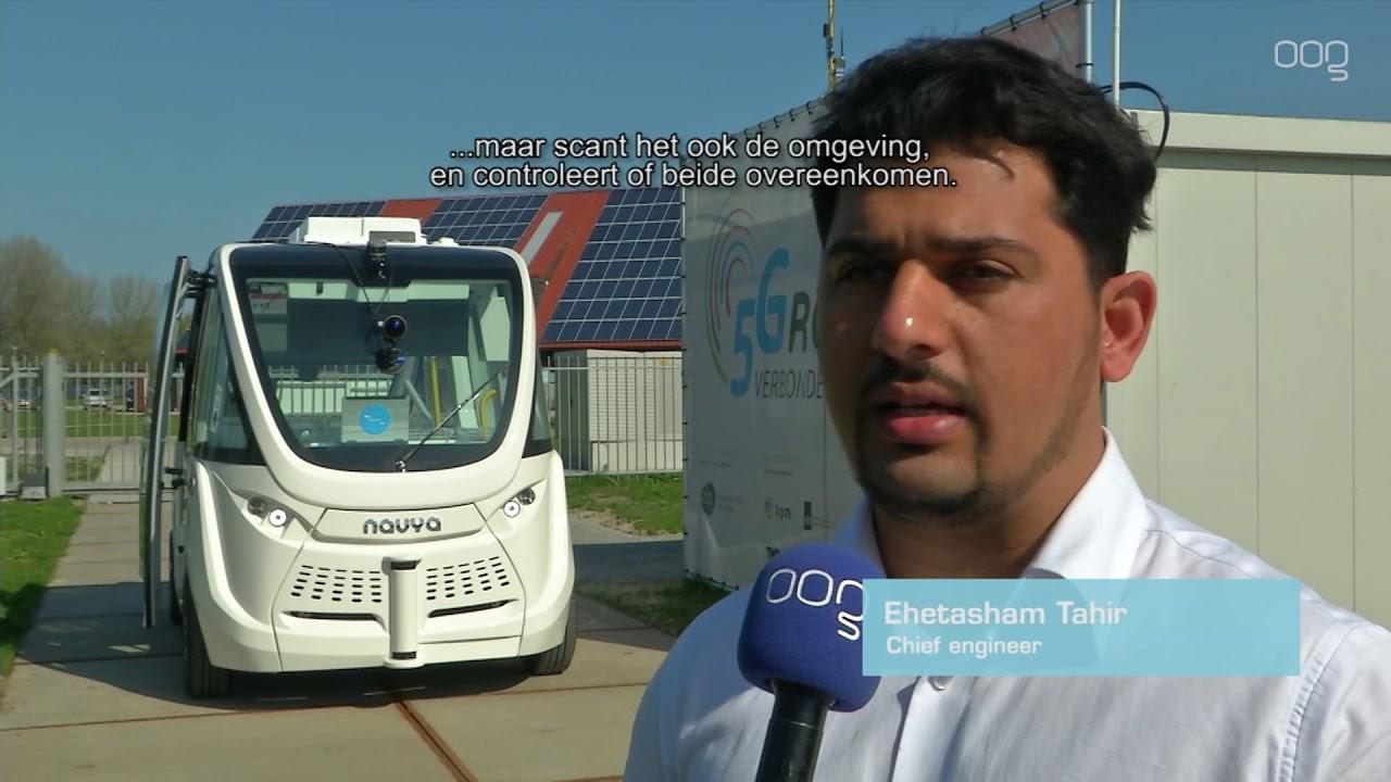 Zelfrijdend busje getest op Zernike Campus