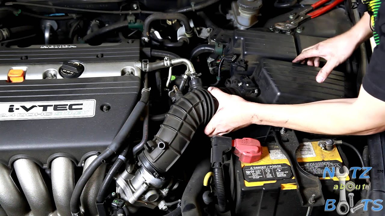 2003 Honda Crv Starter Wiring Diagram 3 Wire Alternator 2003-2007 Accord Throttle Body Cleaning - Youtube