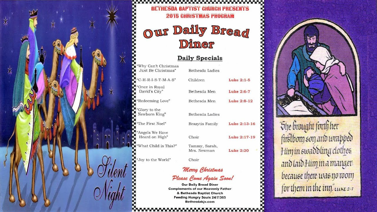 OUR DAILY BREAD DINER+ Another Christmas Story - YouTube