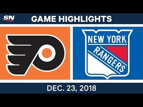 NHL Highlights | Flyers vs. Rangers - Dec 23, 2018