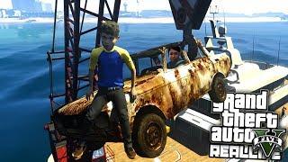 Реальная жизнь в GTA 5 - Что спрятано на дне океана??
