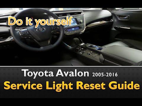 Toyota Avalon Service Maintenance Light Oil Life Reset 2005 2016