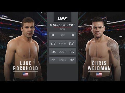 EA SPORTS UFC 2 - UFC 199: Luke Rockhold vs Chris Weidman 2 Gameplay [1080p HD]