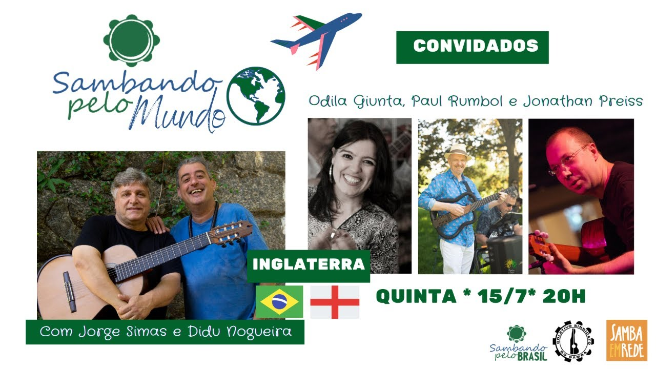 Talking samba with Jorge Simas and Didu Nogueira