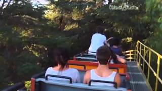 Idiot stands up on a roller coaster