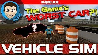 Roblox Vehicle Simulator macht das schlechteste Auto des Spiels EVEN WORSE!