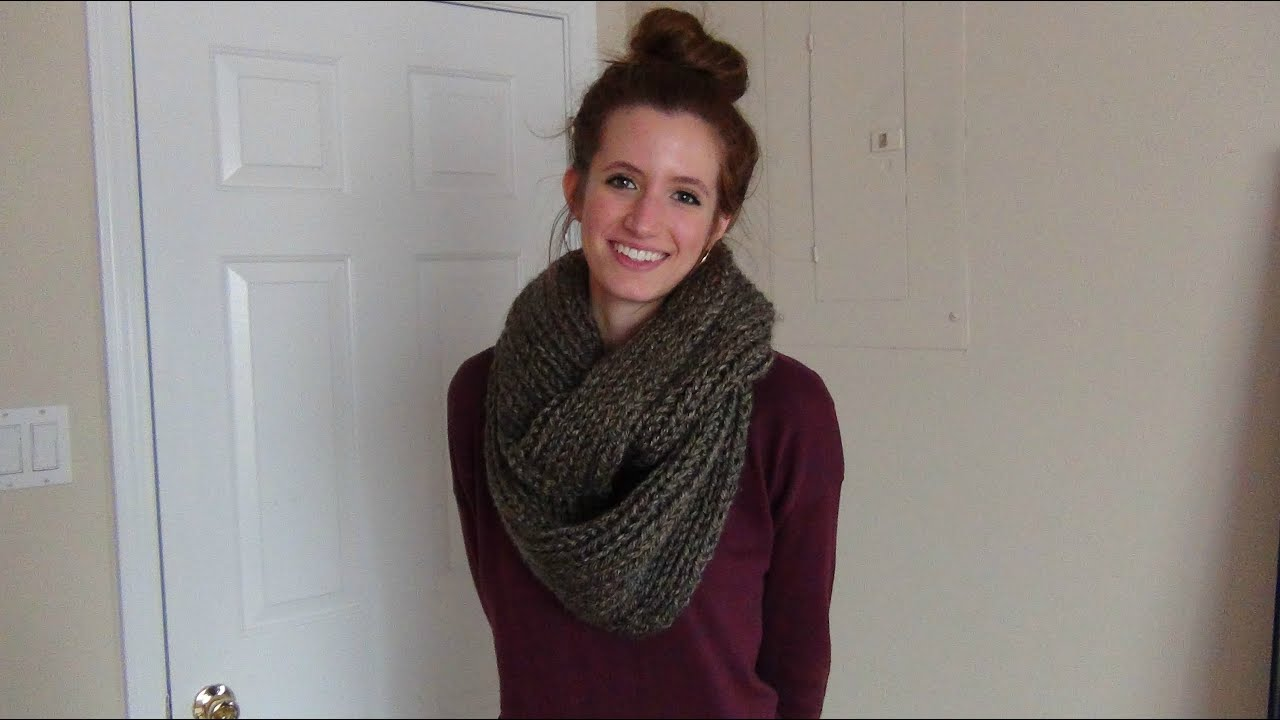 How to Knit an Infinity Scarf - YouTube