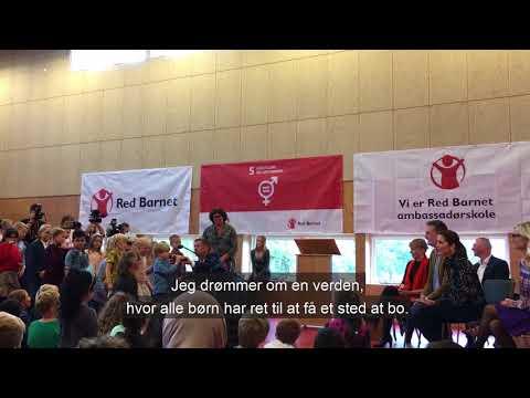 H.K.H. Kronprinsessen besøger Red Barnets ambassadørskole
