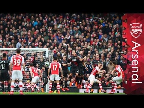 Arsenal - Top five free-kicks