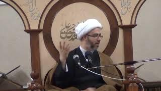 الشيخ مصطفى الموسى - الإمام حسن العسكري عليه السلام يستدعي أربعين رجلا للرؤية الإمام المهدي عجل الله