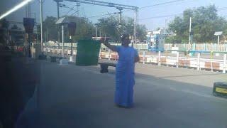 LADY STATION MASTER SHOWS GREEN FLAG TO TEJAS EXPRESS!    Arrogant Skip!    Indian Railways!