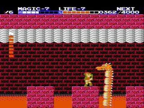 Zelda 2 The Adventure Of Link Nes Boss Battles Youtube