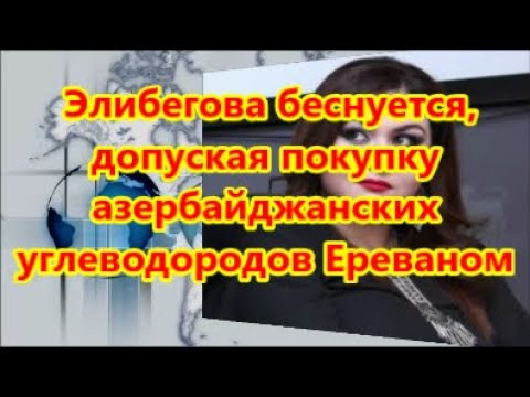 Элибегова беснуется, допуская покупку азербайджанских углеводородов Ереваном