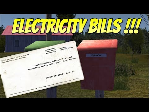 MY SUMMER CAR - ELECTRICITY BILLS & 3D PRINTED ENGINE
