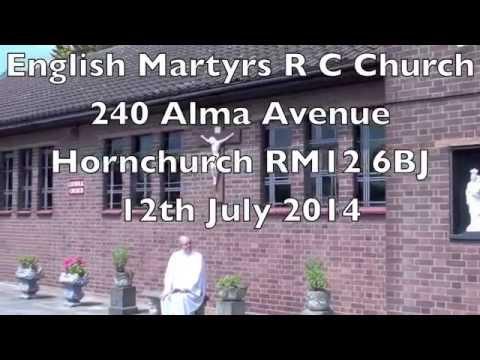 Baptism Charlie George Agar English Martyrs R C Church Hornchurch Essex 12 July 2014