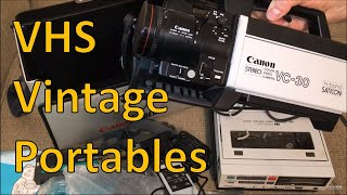 Canon and Magnavox VCR & Camera Combos from 1984