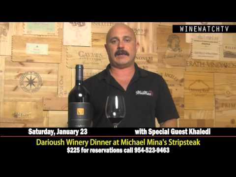 Darioush Winery Dinner at Michael Mina's Stripsteak - click image for video