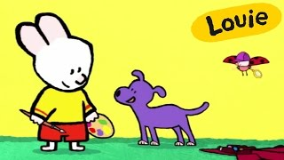 Dog - Louie draw me a Dog | Learn to draw, cartoon for children