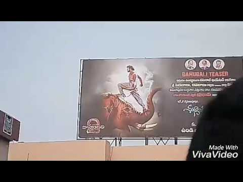 Bhimavaram prabhas fans celebrations for Baahubali 2 the conclusion trailer