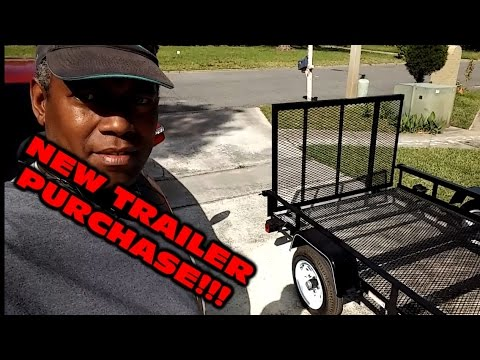 Lawn Care Adventures Jacksonville, Fl New Lowes Trailer Purchase, Vlog2!