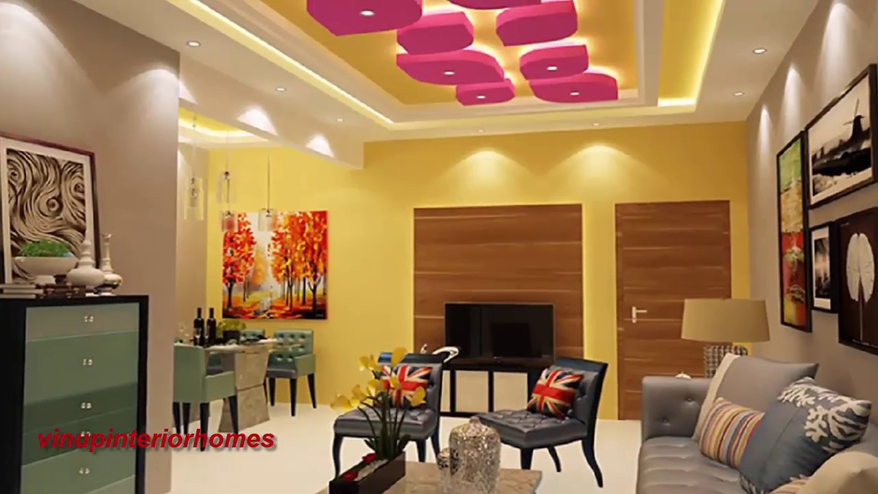 25 latest gypsum false ceiling designs living room for Latest room interior
