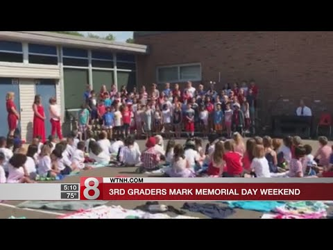 """Fairfield's Holland Hill School 3rd Graders sing """"50 Nifty United States"""" in honor of Memorial Day w"""