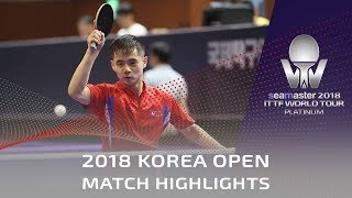 Sambe Kohei vs Ham Yu Song | 2018 Korea Open Highlights (U21-Final)