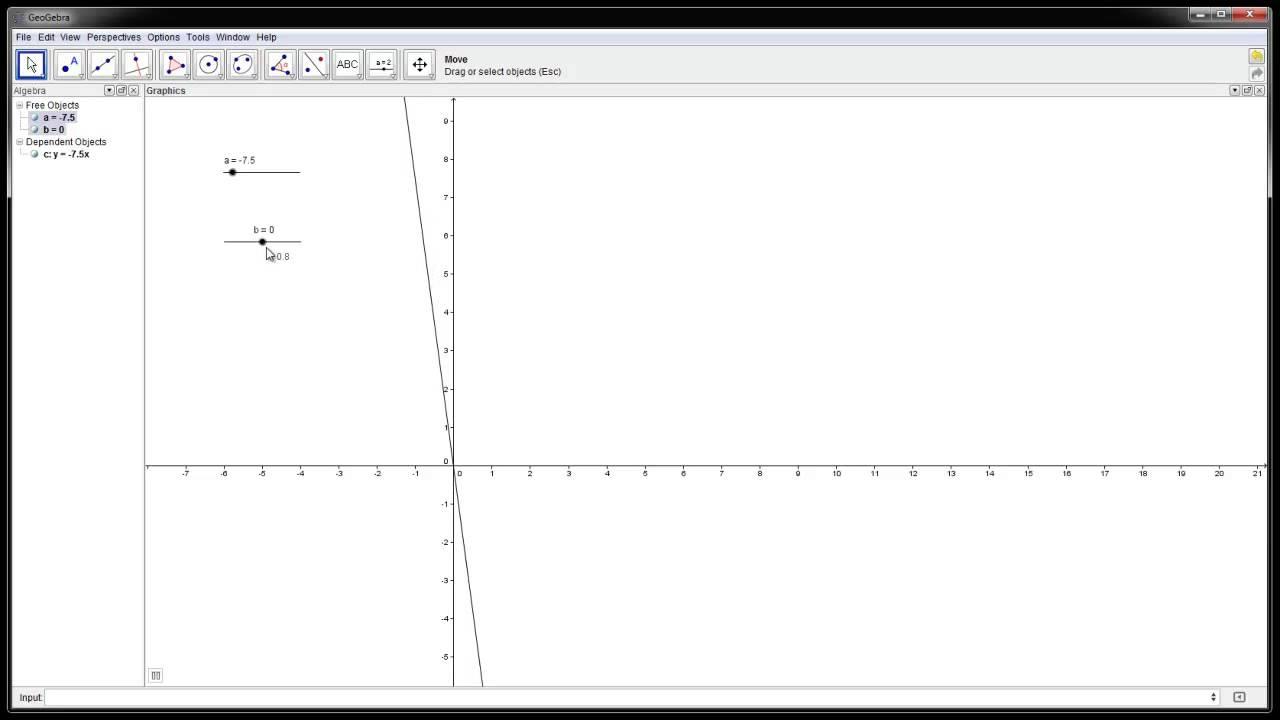 3.3 - Rette linjer 3 - Visualisering med Geogebra (1T)