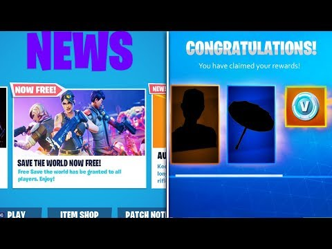 Fortnite Save The World FREE Release Date! (FREE UNLOCKS & REWARDS)