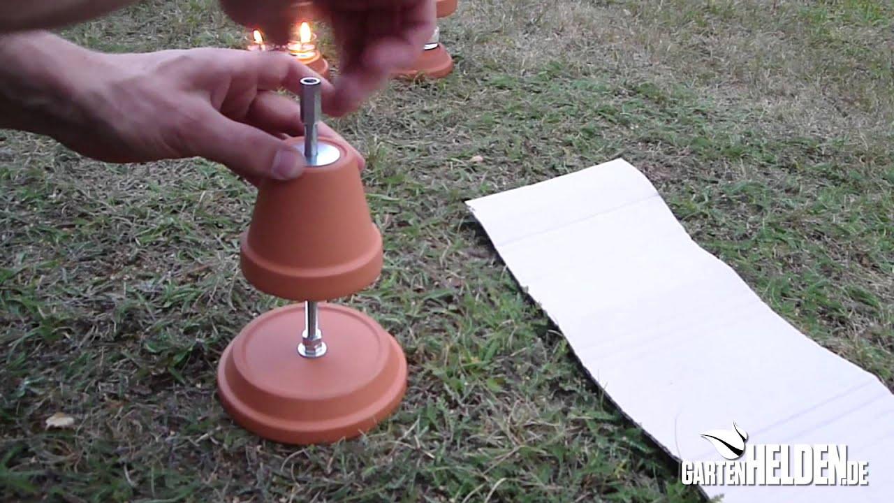 Teelichtofen selber bauen - der gartenHELDEN DIY Tipp - YouTube