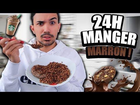 JE MANGE QUE DE LA NOURRITURE MARRON PENDANT 24H ?!! JustJonathan