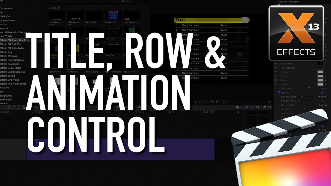 XEffects 3D Sports Graphics for FCPX - Newsshooter