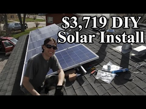 HOW TO INSTALL SOLAR PANELS DIY ARRAY ENPHASE MICROINVERTERS 1.47 KW SYSTEM TIME LAPSE