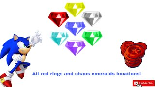 Sonic Freedom Universe! All red rings and chaos emeralds!