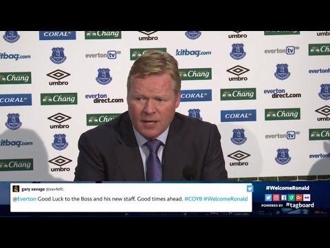Ronald Koeman's first Everton press conference