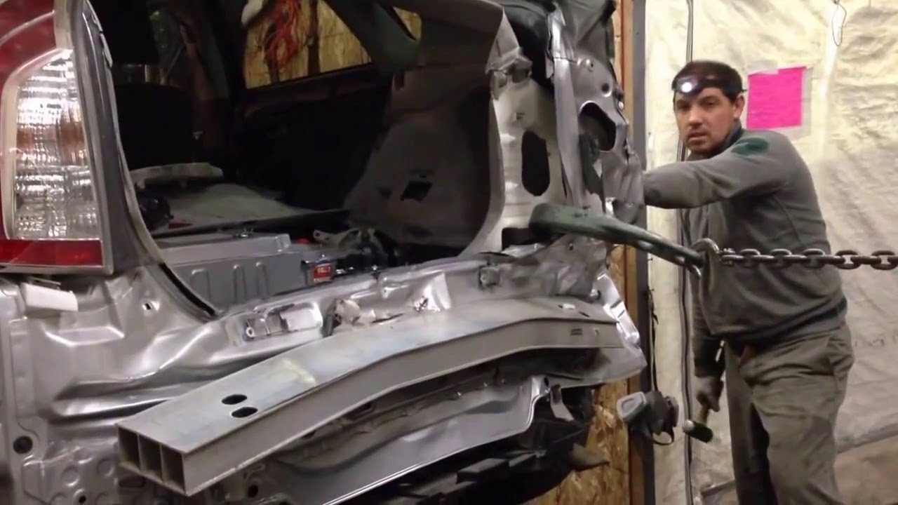 2012 toyota prius pulling frame on frame machine autosqscom youtube