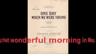 One Day When We Were Young (Richard Tauber)