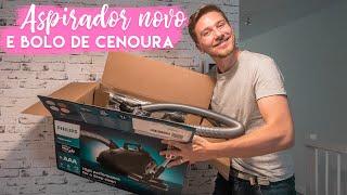 João e seu bolo de cenoura e aspirador novo (fiz review e tudo!) | Vanessa Lino