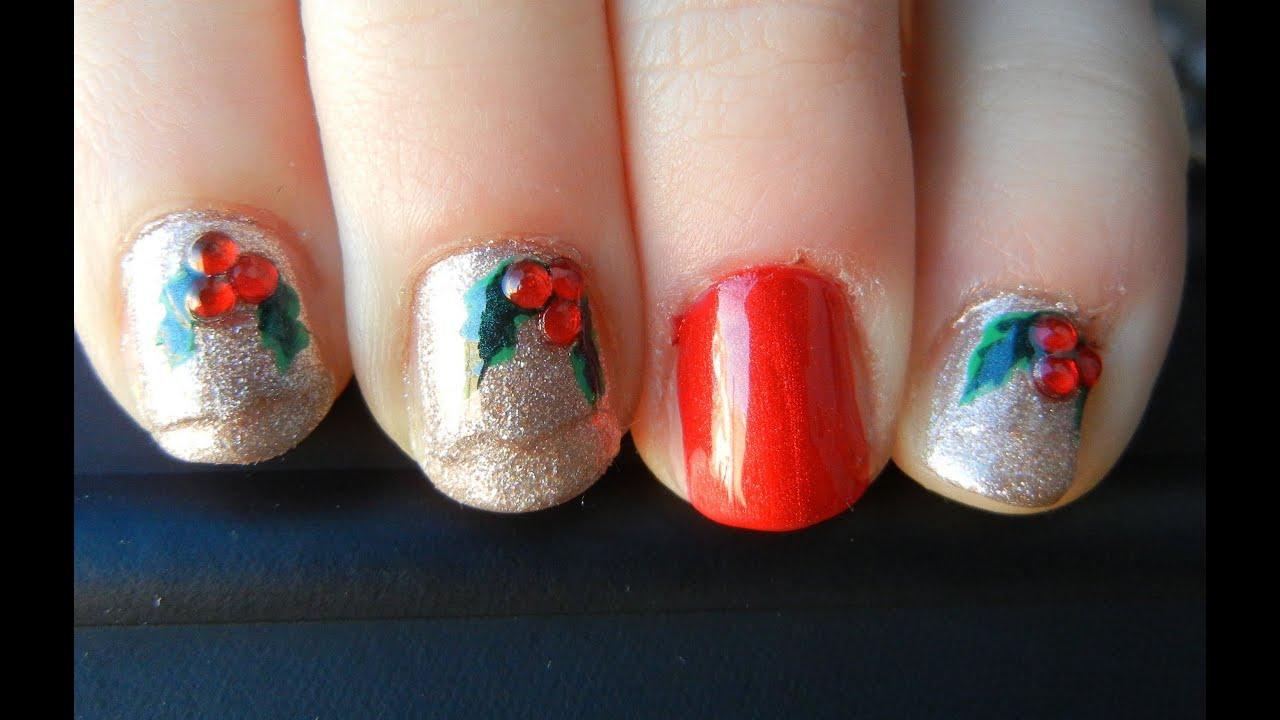 Mistletoe nails youtube mistletoe nails prinsesfo Choice Image