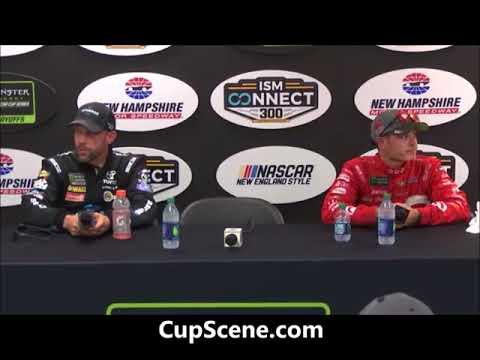 NASCAR at New Hampshire Motor Speedway, Sept. 2017: Larson, Kenseth post race