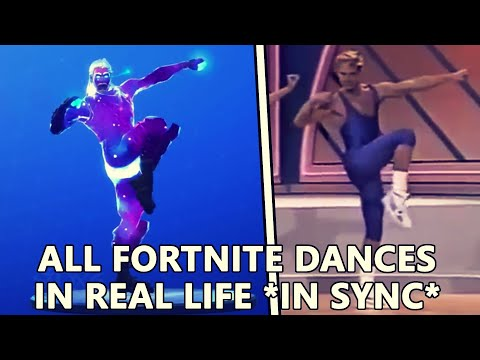 ALL *NEW* FORTNITE DANCES IN REAL LIFE Living large and Work it out