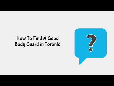 How Much Does Body Guard Cost In Toronto | Northern Force Security