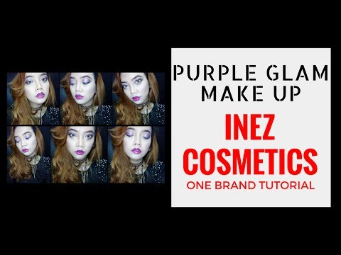 one-brand-make-up-tutorial-#7-:-inez-cosmetics---purple-glam-make-up-look-||-judith-cholya
