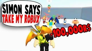 PLAYING ROBLOX SIMON SAYS!! *I LOST ROBUX*
